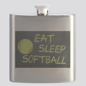 eat, sleep, softball Flask